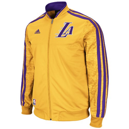 NBA Los Angeles Lakers On-Court Warm-Up Jacket Home Weekday, Large at Amazon.com
