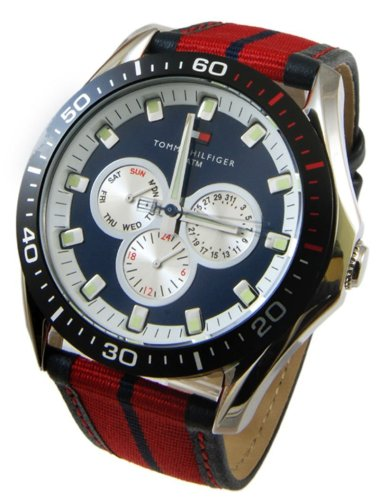 Tommy Hilfiger Men's 1790600 Multi-Function Leather Strap Watch