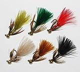 管釣りチューン・フェザージグ「激釣!ジグ坊や」6本set,ベーシックcolor, Lサイズ