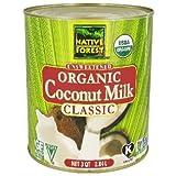 Native Forest Coconut Milk Classic Organic Unsweetened 3 Qt