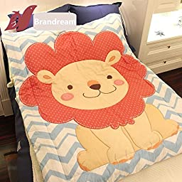 Brandream Baby Kids Quilt Cute Lion Quilts Cartoon Blanket 47 By 63 Inch