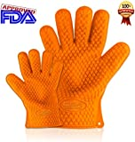 GSA Products, LTD Cooking Gloves Heat Resistant and Made of Silicone - 100% Waterproof and More Than Just Oven Mitts. Use Them on a Barbeque Smoker or Barbeque Grill for Cooking Tasty Chicken and Meats. Perfect for Taking Lobster From Boiling Water. Made with Fingers to Make It Easy Opening Jars. Your Investment Is Protected with a Lifetime Guarantee.