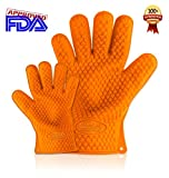 Cooking Gloves Heat Resistant and Made of Silicone - 100% Waterproof and More Than Just Oven Mitts. Use Them on a Barbecue Smoker or Barbecue Grill for Cooking Tasty Chicken and Meats. Perfect for Taking Lobster From Boiling Water. Made with Fingers to Make It Easy Opening Jars. Your Investment Is Protected with a Lifetime Guarantee.