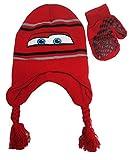 Disney pixar Cars Striped Knit Scandinavian Hat and Mitten Set - Toddler