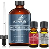 Art Naturals Eucalyptus Essential Oil 4.0 oz 3pc Set - Includes Our Aromatherapy Signature Zen & Chi Blends 10ml Each Therapeutic Grade 100% Pure & Natural Oils