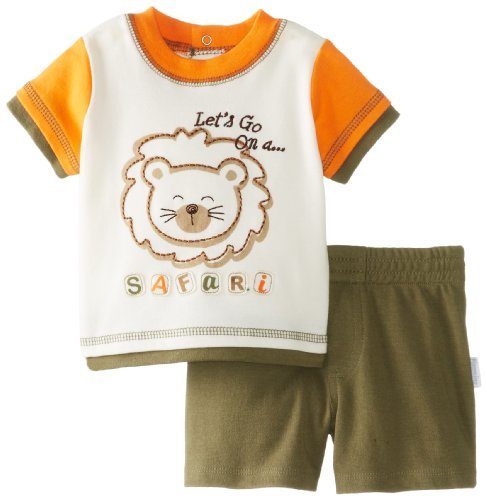 Vitamins Baby Baby-Boys Newborn Safari Pack Short Set, Green, 6 Months