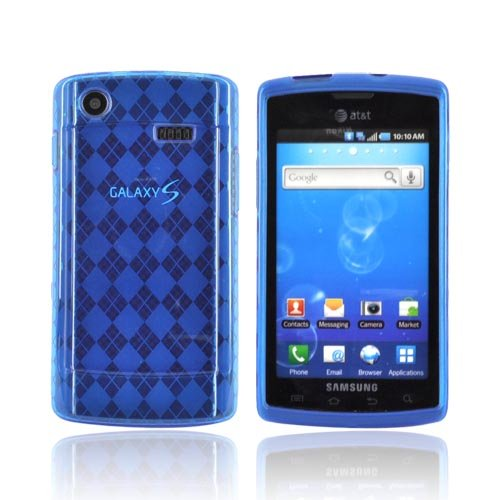Argyle Blue Samsung Captivate i897 TPU Gel Case Cover [Anti Slip] Supports Premium High Definition Anti-Scratch Screen Protector; Best Design with High Quality; Coolest Soft Silicone Rubber Case Cover for Captivate i897 (Release Date) Supports Samsung i897 Devices From Verizon, AT&T, Sprint, and T-Mobile (Samsung I897 Case compare prices)