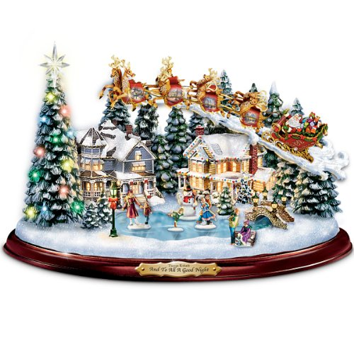 Thomas-Kinkade-And-To-All-A-Good-Night-Christmas-Sculpture-by-The-Bradford-Exchange