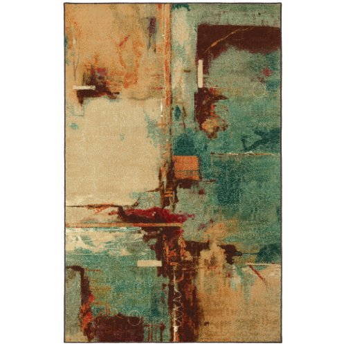 8'x10' Area Rug. Multi Color LUXURIOUS Plush and Soft by MOHAWK SELECT - Select Textures 58110-58015 Aqua Fusion