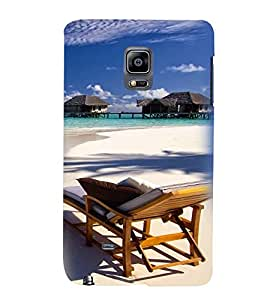 Printvisa Beautiful Seaside With Reclining Beach Chair Back Case Cover for Samsung Galaxy Note Edge::Samsung Galaxy Note Edge N915