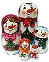 Snowman Family Nesting Doll 5-pc 7H