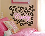 Animal Print Wall Decals – Leopard Spots and Name Sticker Set – 35 Spots – Pick Your Color
