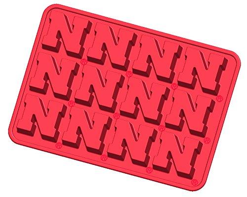ncaa-nebraska-cornhuskers-ice-trays-candy-mold-one-size-red
