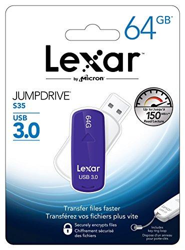 Lexar Jumpdrive S35 - Memoria USB 3.0 de 64 GB