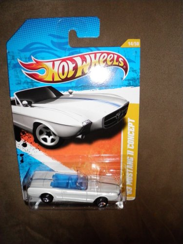 2011 HOT WHEELS NEW MODELS 14/244 WHITE CONVERTIBLE '63 MUSTANG II CONCEPT 14/50 - 1