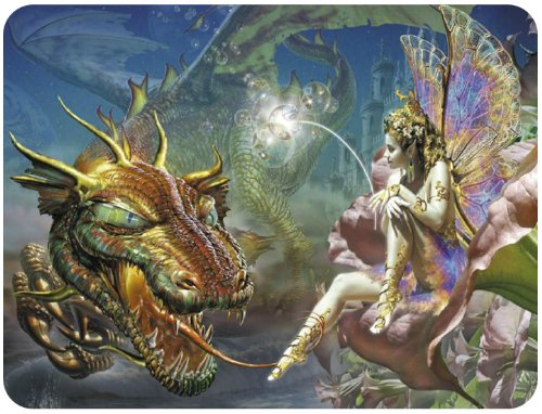 Mekech New Mythical Fairy & Medieval Dragon Ii Fantasy Decor Mouse Pads Mouse Mats
