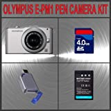 Olympus PEN E-PM1 Digital Camera (Silver) W/14-42mm Lens + Huge Accessories Package Including 4GB SDHC Memory Card + High Capacity BLS-1 Replacement Lithium-Ion Battery + Hi-Speed SD Card Reader + Kit coupon codes 2014