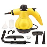 Handheld Multi-purpose Pressurized Steam Cleaner for stain removal, curtains, crevasses, bed bug control, car seats and more