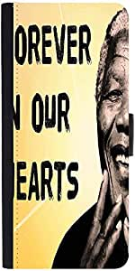 Snoogg Mandela In Our Hearts Graphic Snap On Hard Back Leather + Pc Flip Cove...
