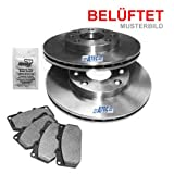 Brake Discs Vented Ã300mm + Brake Pads Front Axle JAGUAR S-TYPE CCX 2.5 V6,2.7 D,3.0 V6,4.0 V8 99-08; LINCOLN LS 3.0 V6 24V, 4.0 V8 32V 1998 ONWARDS