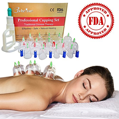 Chinese Acupuncture Cupping Therapy Set-Professional Medical Grade 14 Cups-For Muscle Pain Relief, Sports Injury, Massage, Cellulite, Detox for Athletes, Sportsmen, Physical Therapists, Acupuncturists (Chinese Cups compare prices)