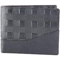 Walletsnbags Cross Wave Leather Men's Wallet Black