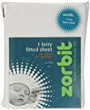 Zorbit Terry Cotton Rich Fitted Sheet Cot White