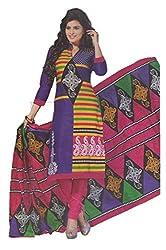 Aradhya Women's Multicolour Designer Printed Cotton Dress Material