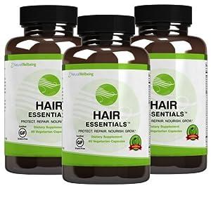 Hair Essentials Natural Herbs and Vitamins Hair Growth Supplement