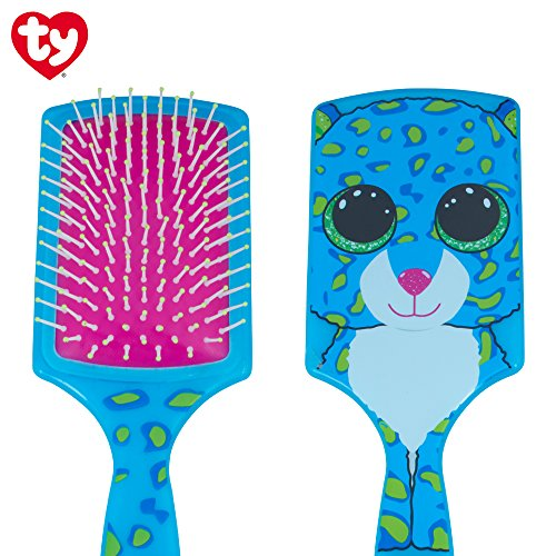 TY Beanie Boo's printed paddle brush with glitter eyes (leopard)