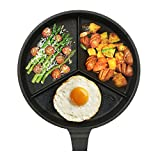 [Lovecook]Lovecook Triple Division Frying Pan 28cm/3 Kinds at Once/5 layered Coating