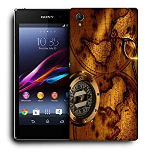 Snoogg World Compass Designer Protective Back Case Cover For SONY Z4