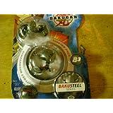 Bakugan Bakusteel Starter Pack (Black Silver Frost Verias, Black Silver Frost Spindle, Black Silver Frost Mystery Ball)