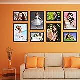 Elegant Arts & Frames High Quality PVC Group Collage Photo Frame Set Of 8 Black
