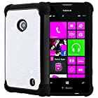 CellJoy® Triple Defender Layered Armor Back Cover Case for Nokia Lumia 521 (At&t / Metro / T-Mobile / Cricket) ***WILL NOT FIT LUMIA 520*** [CellJoy Retail Packaging] (Black / White)