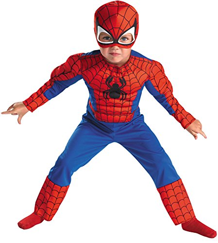 Baby Boys - Spiderman Toddler Costume Muscle 3T-4T Halloween Costume