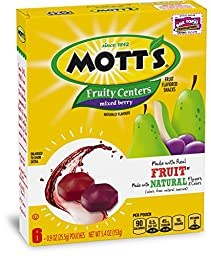 Betty Crocker Fruit Snacks Mott\'s Fruity Centers Mixed Berry Fruit Flavored Snacks Pouches, 5.4 Ounce (Pack of 10)