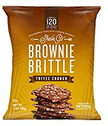 Sheila G\'s Brownie Brittle Toffee Crunch 16 Packs of 1oz Each