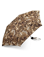 M&S Collection Flexilite Abstract Animal Print Umbrella