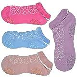 Qing Outdoor ™ 4 Pair Non Slip Silicone Dot Cotton Yoga Socks