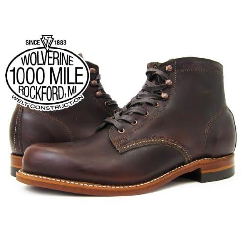(ウルヴァリン)WOLVERINE 1000 MILE BOOT PLAIN TOE BOOT BROWN [並行輸入品]