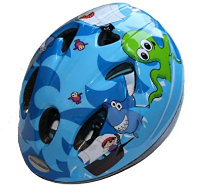 Raleigh Kid's Rascal Pirate Cycle Helmet - Blue, 44-50 cm