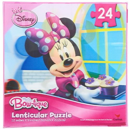 Disney Minnie Mouse Bow-tique Lenticular Puzzle, 24 Pieces - 1