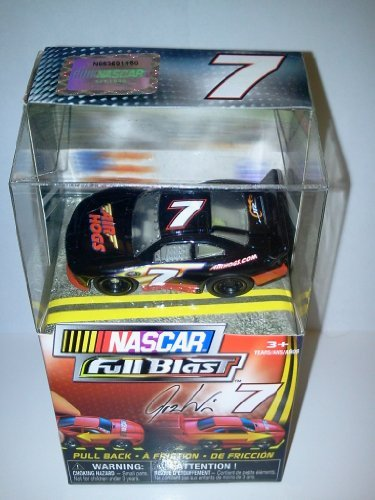"Nascar FULL BLAST Pull Back Car #7 Josh Wise Air Hogs 2011 New Release 2"" - 1"