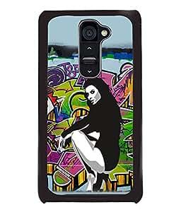 Fuson Dance Girl Back Case Cover for LG G2 - D3670