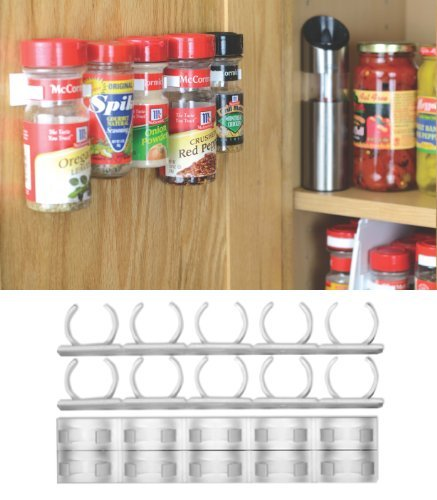 Kitchen Cabinet Spice Rack Organizer: Organizer Rack 20 Cabinet Door Spice Clips Storage Kitchen
