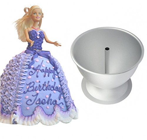 WellieSTR Barbie Doll cake mold ,Princess Dress Fondant Cake Decorate,dress cake mould cartoon aluminum baking Mold (Wonder Mold Cake Pan compare prices)