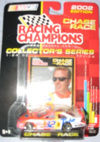 2002 Edition Chase the Race 1:64 Scale Die-cast Racing Champions Collector's Series #32 Tide Racing Ford Tauras Chrome Chase Car Ricky Craven