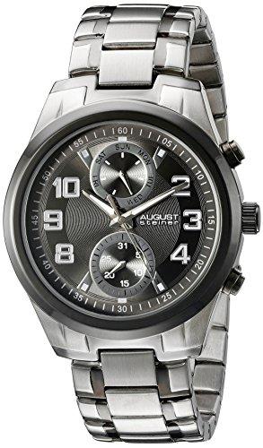 August Steiner Men's Analog Display Japanese Quartz Two Tone Watch