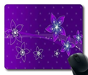 "1 X Personalized Purple Flowers Custom Standard Rectangle Mouse Pad Oblong Gaming Mousepad in 220mm*180mm*3mm (9""*7"") -1011017"
